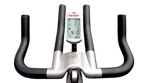 Kaiser spinning bike display